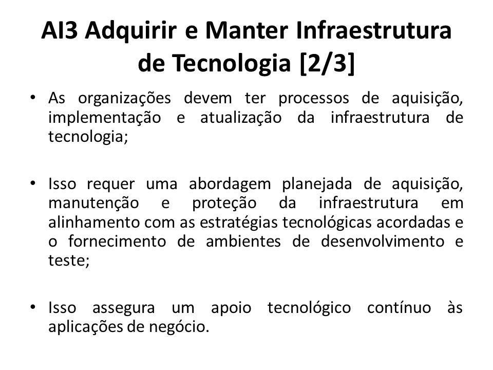 AI3 Adquirir e Manter Infraestrutura de Tecnologia [2/3]
